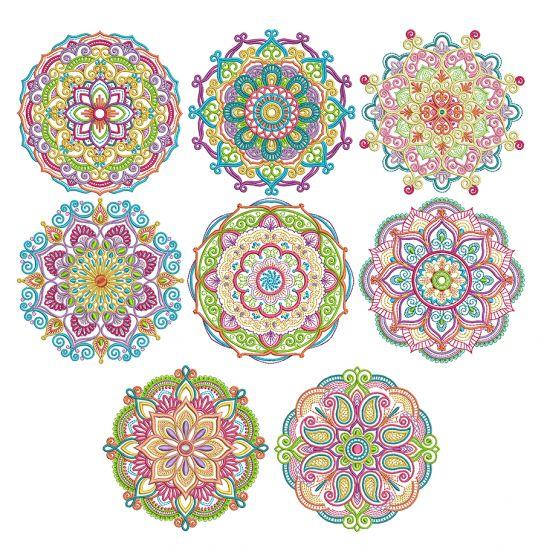 Marvelous Mandalas Set 1 Machine Embroidery Designs by JuJu