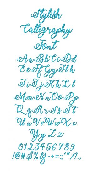 Stylish Calligraphy Embroidery Font Machine Embroidery Designs by JuJu