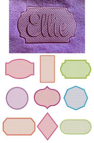 Motif Filled Knockdown Stitch Frames Set 4 Machine Embroidery Designs By JuJu