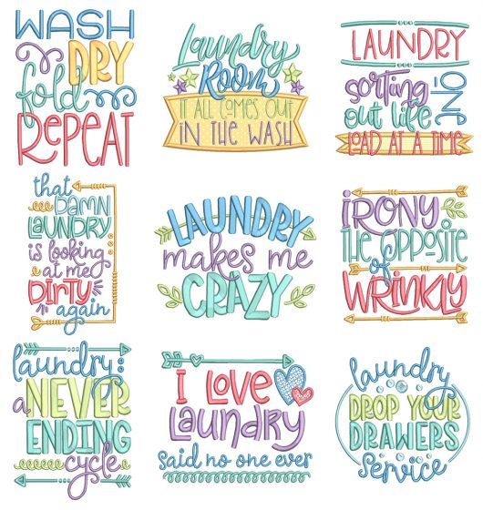 Laundry Word Art