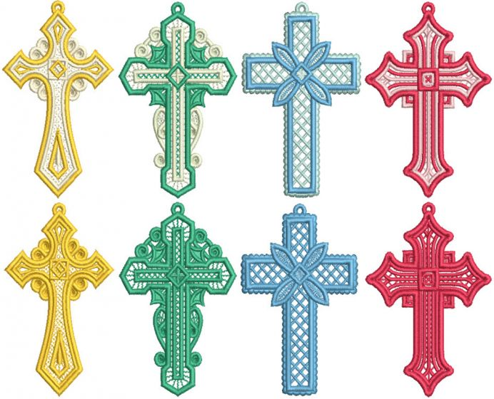 Free Standing Lace Crosses 2
