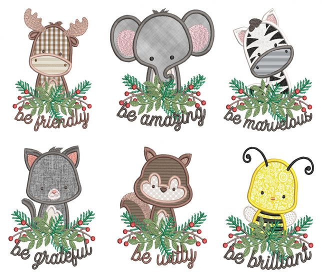 Be Kind Critters Applique 2