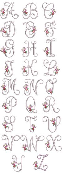 Butterfly Monogram Machine Embroidery Designs by JuJu