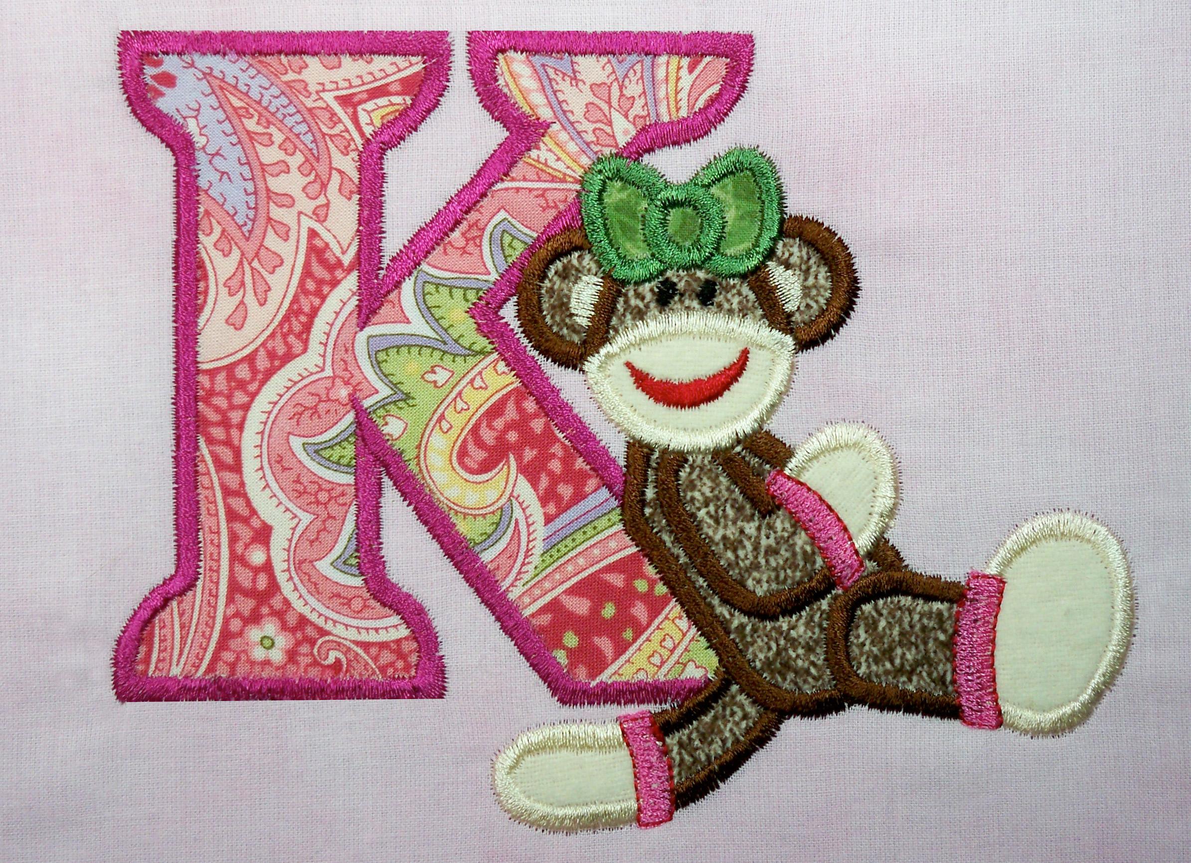 Christmas Tree Applique Alphabet Embroidery Designs by JuJu