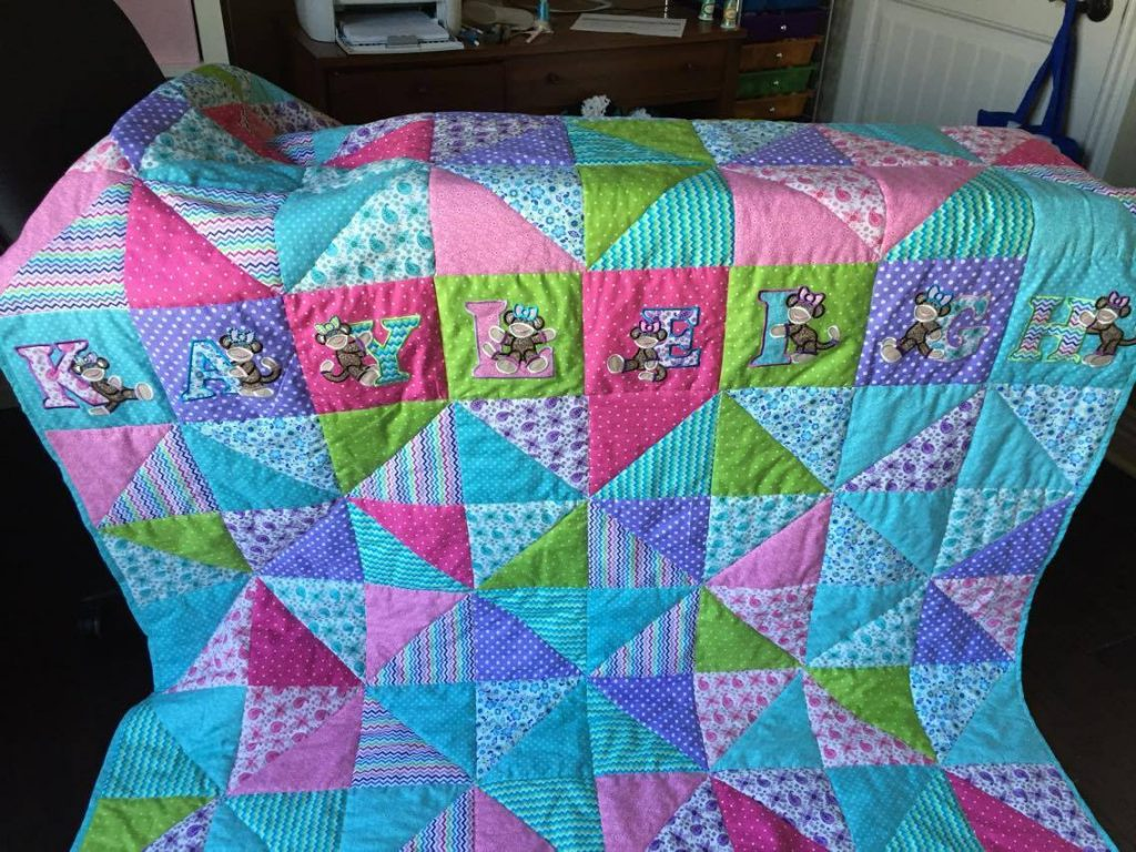 Customer Project: Theresa Stratton Litterell - Sock Monkey Alphabet Quilts