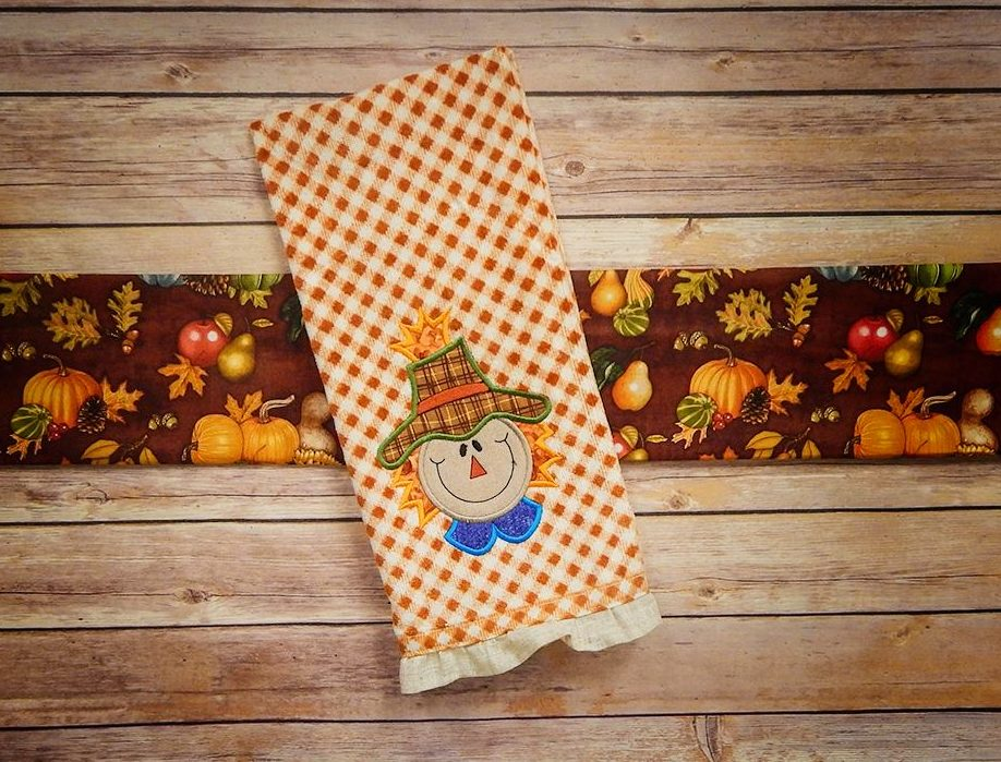 Whimsical Scarecrows Towel