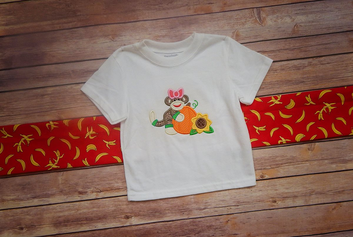 "Halloween Sock Monkeys - Set ""Halloween Harvest Sock Monkeys"" - Shirt"