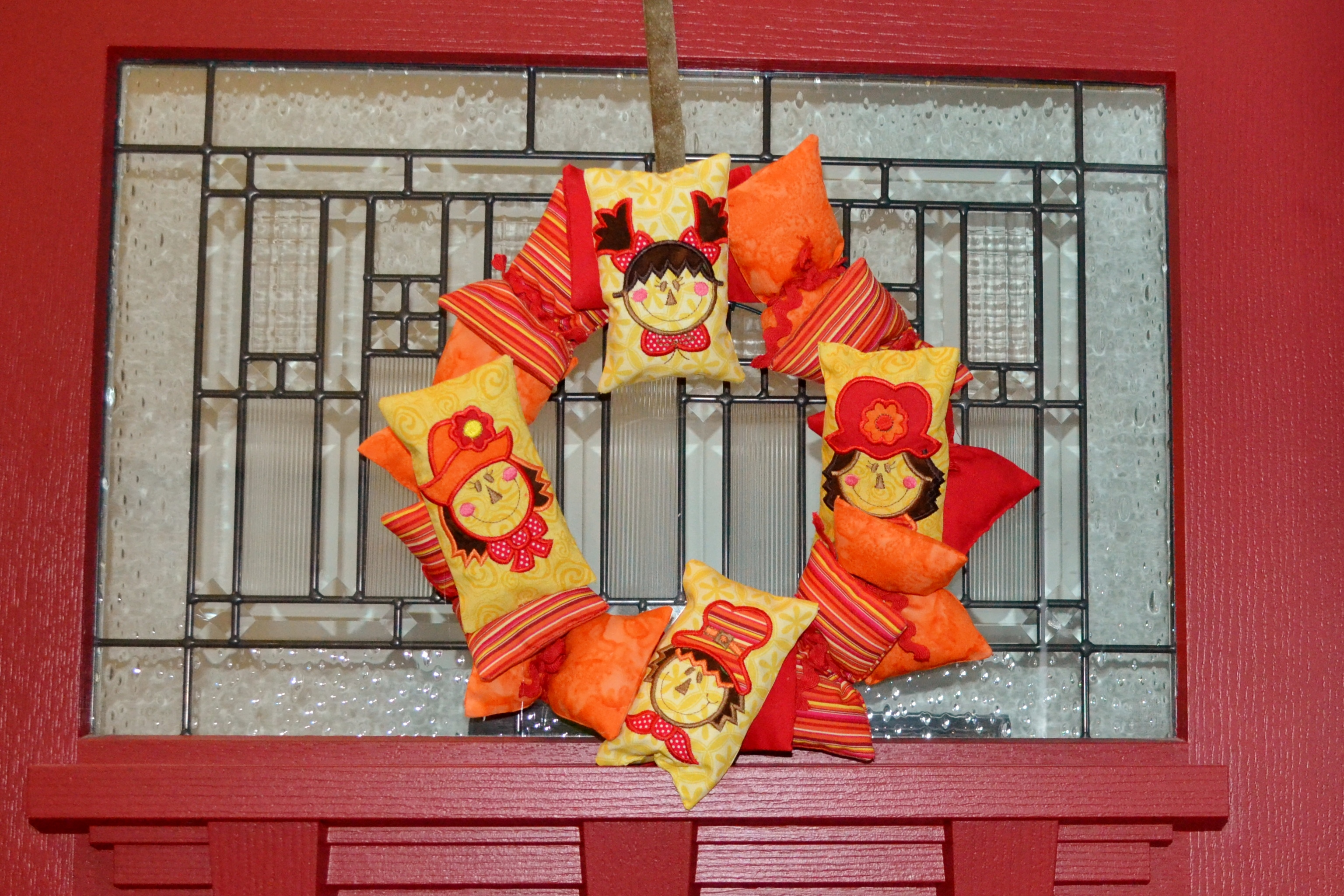 photo 11 / Scarecrow Fabric Wreath