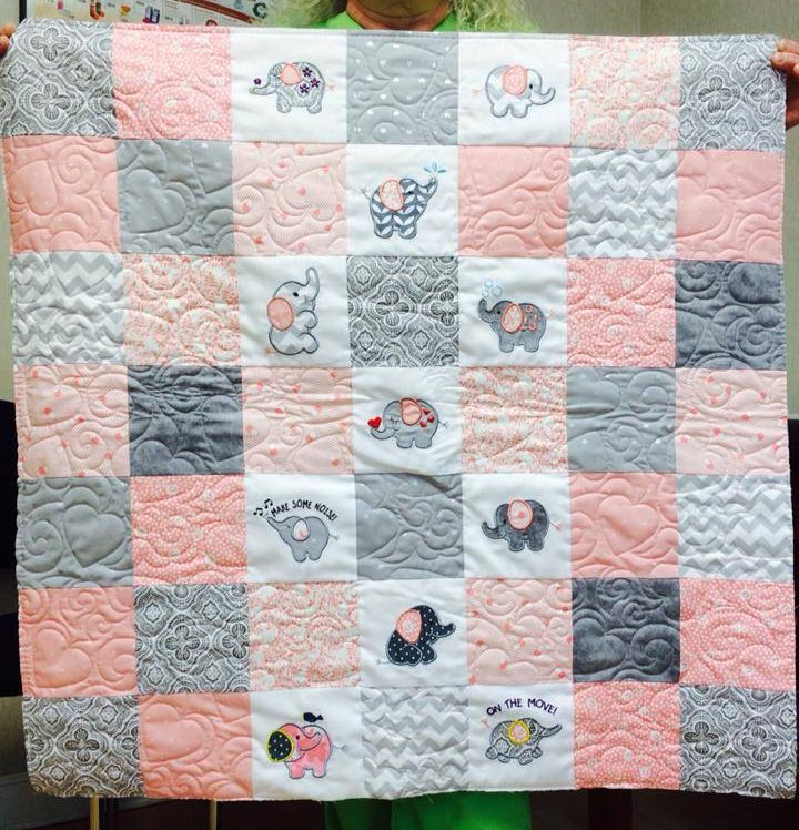 Customer Project By: Terri Dawes / Roly Poly Elephants Quilts