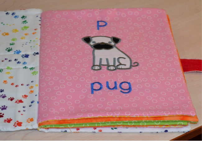 DBJJ - 13 - Embroidered Fabric Doggie Book