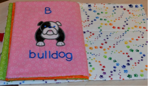DBJJ - 14 - Embroidered Fabric Doggie Book