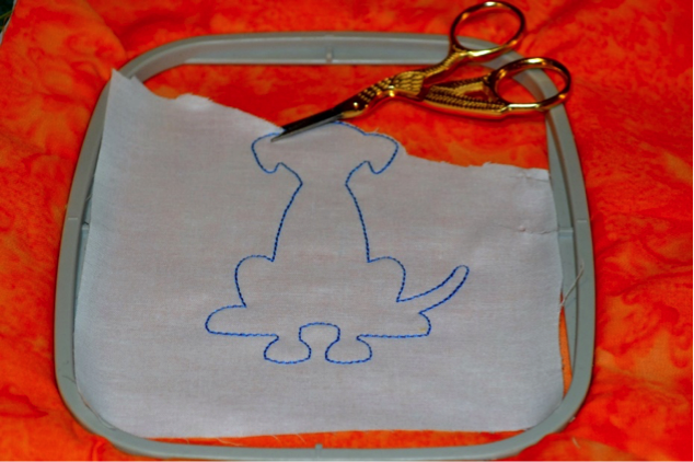 DBJJ - 5 - Embroidered Fabric Doggie Book