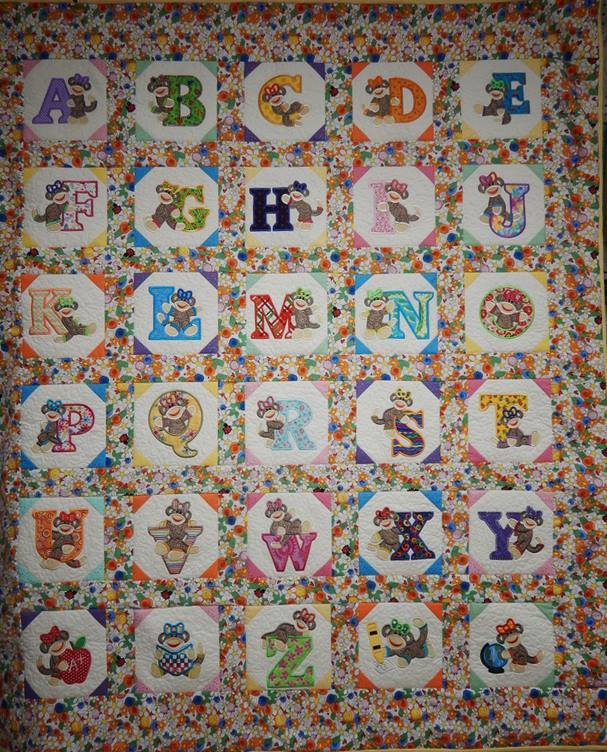 Made By Margie - Sock Monkey Alphabet Quilts
