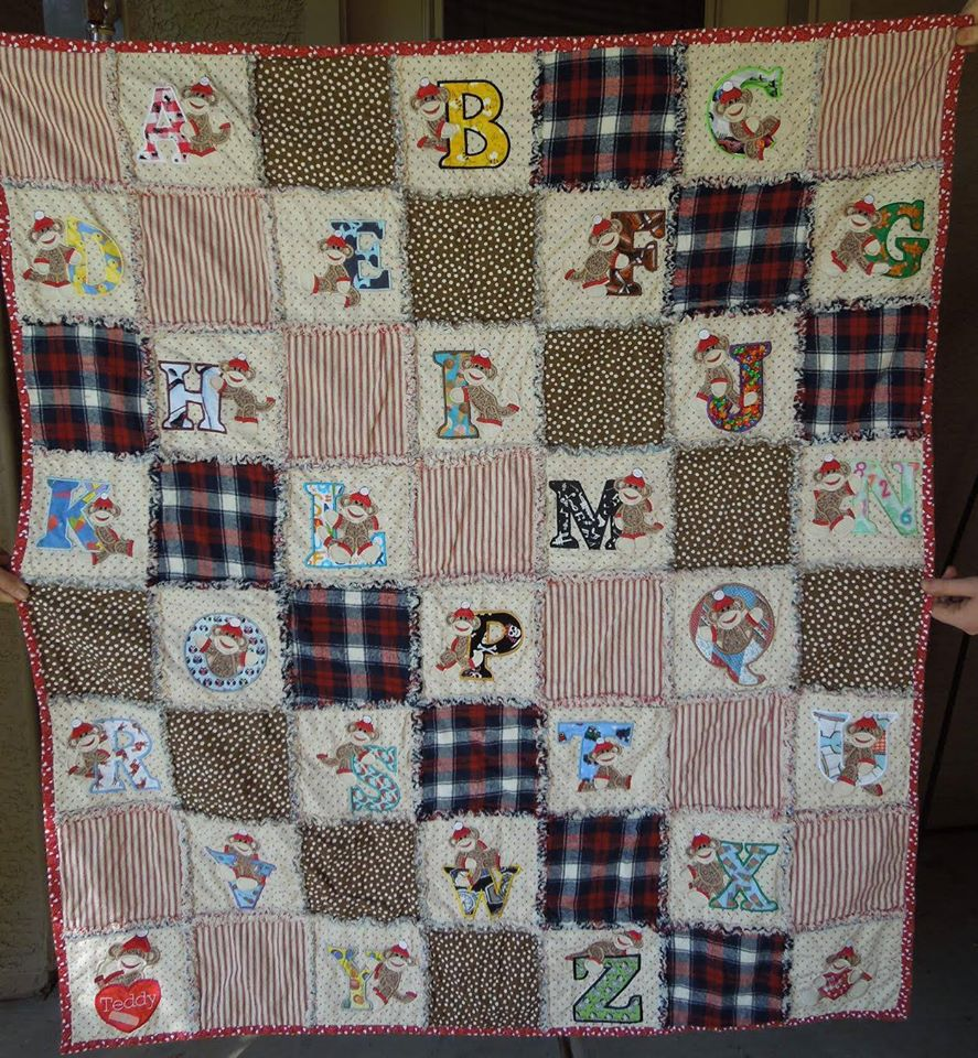 Customer Project: Elisabeth Jean / Sock Monkey Alphabet Quilts