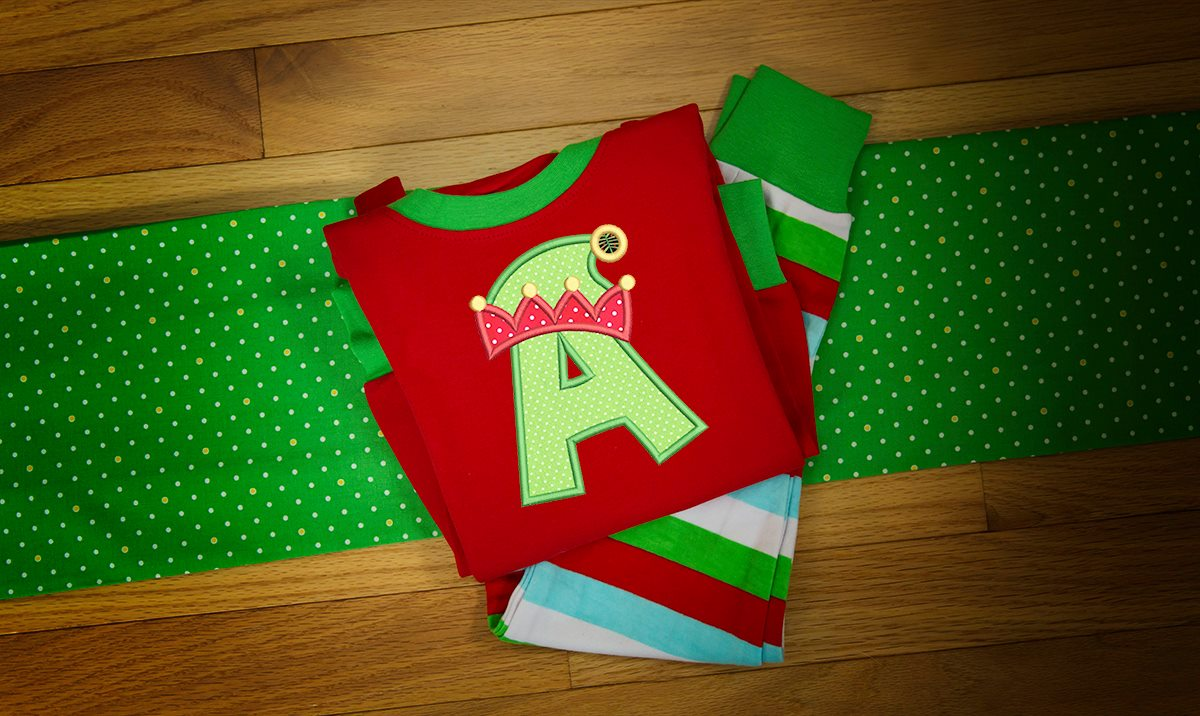 """A"" pajamas / Elf Christmas Hat"