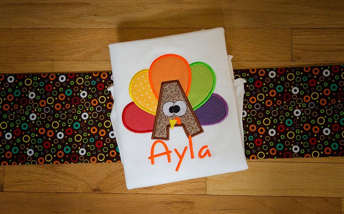 Turkey Applique Alphabet / Thanksgiving Inspiration