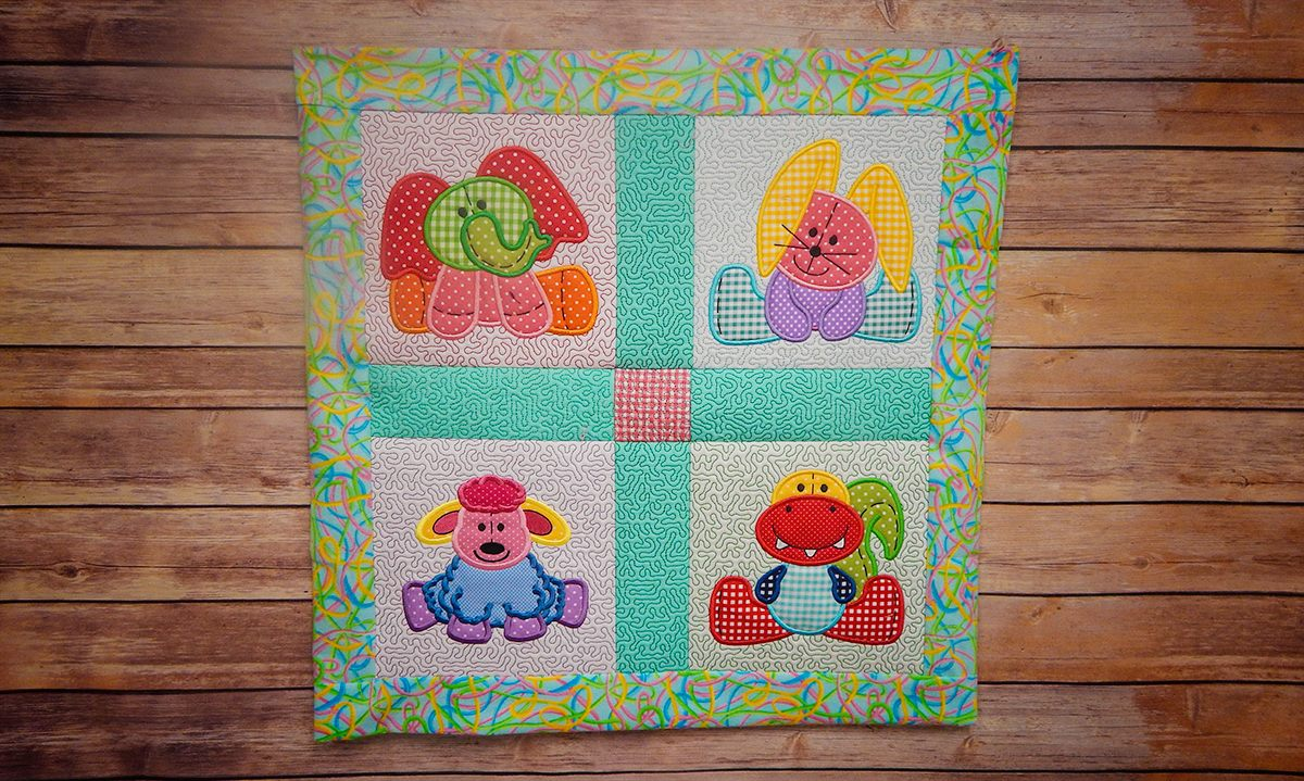 four-animals / Animal Applique Quilt Blocks