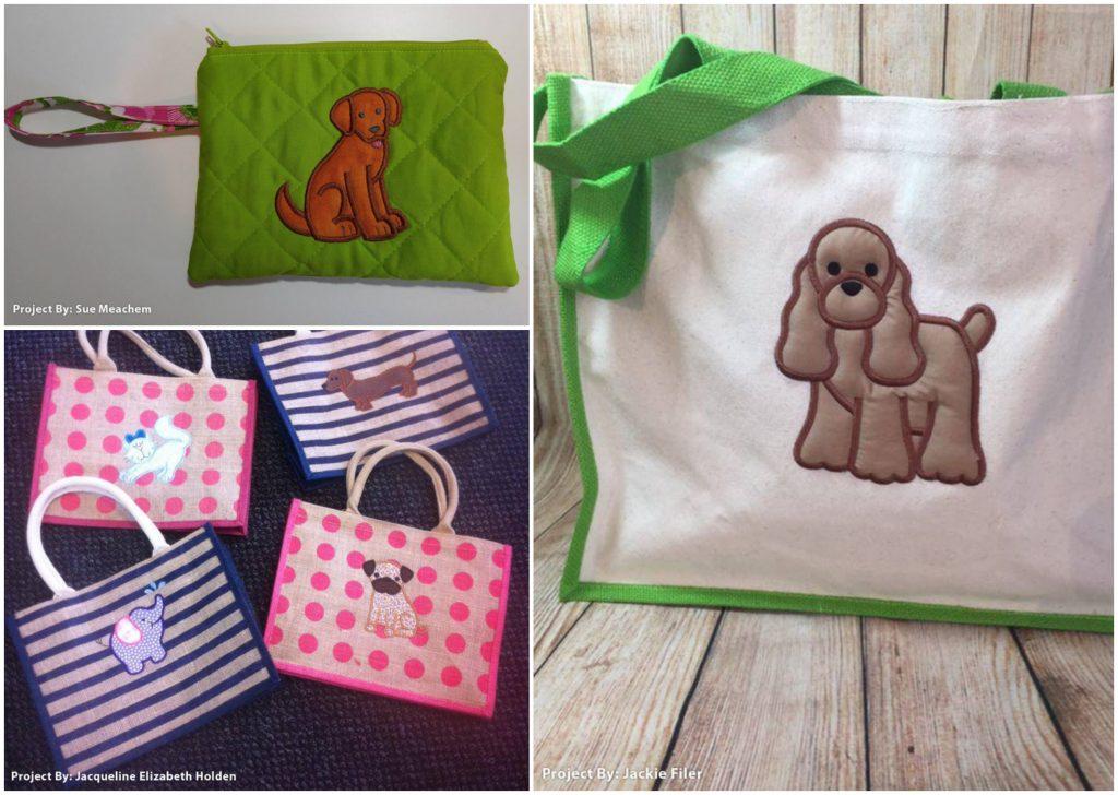 Top Dog Appliques Bags