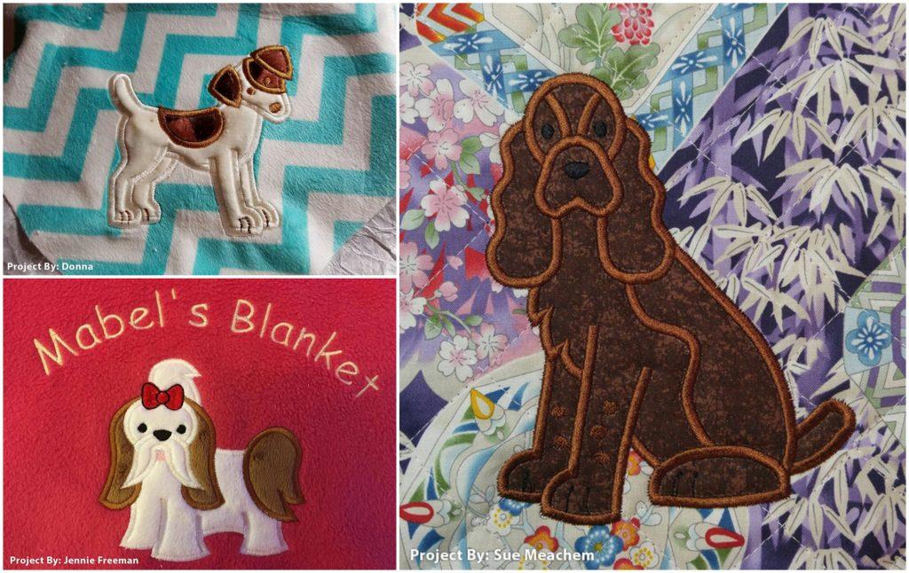 Top Dog Applique - blankets