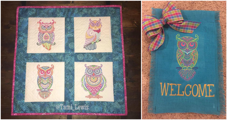 Mehndi Owls