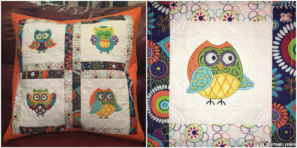 Quilted Pillow / A Hoot And A Half